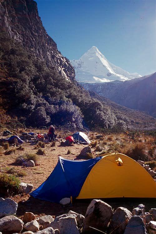 Artesonraju Low Camp