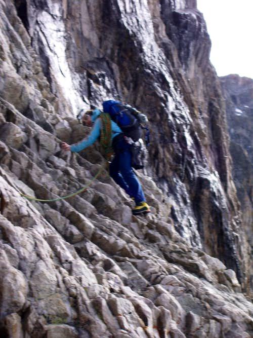 Traverse on Promontoire ridge