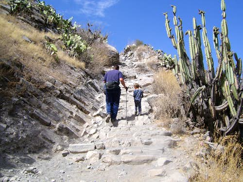 Steep trail to Cabanaconde
