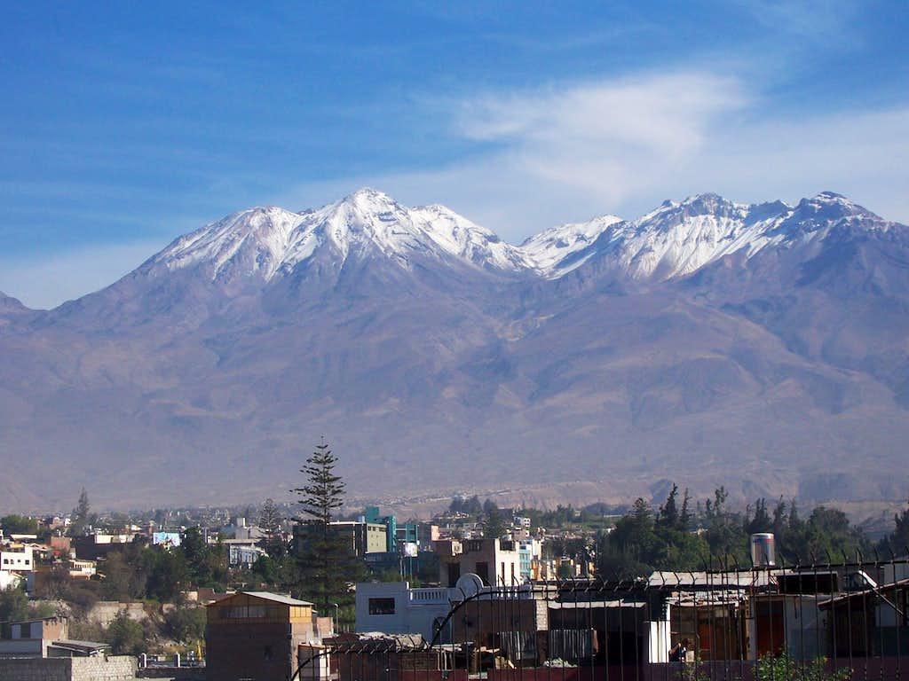 Chachani rises above Arequipa