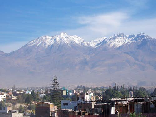 Chachani rises above Arequipa