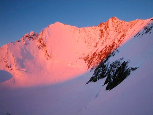 sunrise over lenzspitze and...