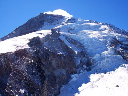 Looking up the Coe Icefall