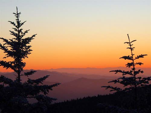 Roan High Knob sunset