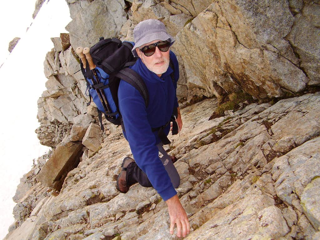 Ken on the slabs - Pico de Alba