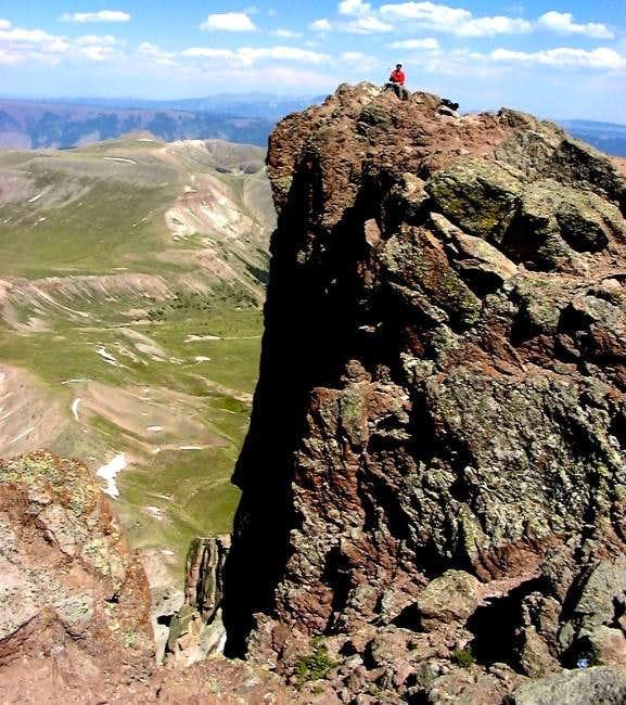 Tim on the Uncompahgre Peak...