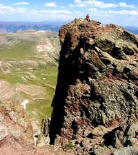 Tim on the Uncompahgre Peak...