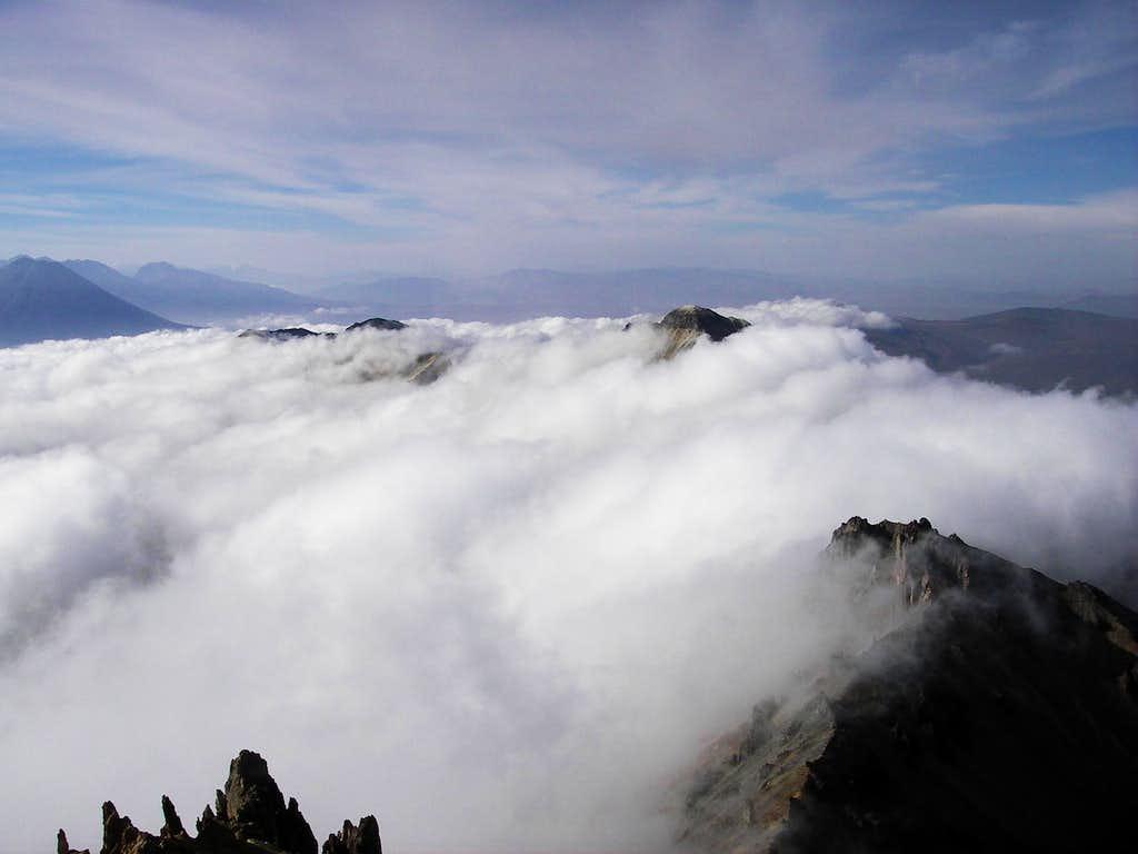Lower Peaks in the Clouds