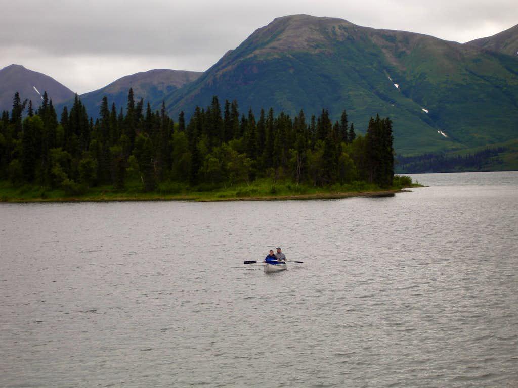 Canoeing on Aleknagik