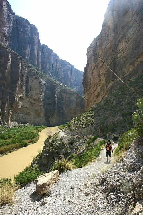 Hiking into Santa Elena Canyon