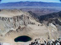 East view atop Mt Whitney