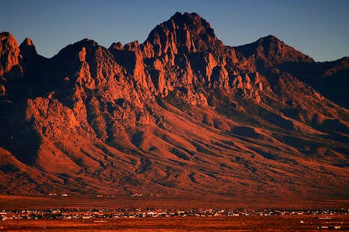 Organ Mountains near sunset