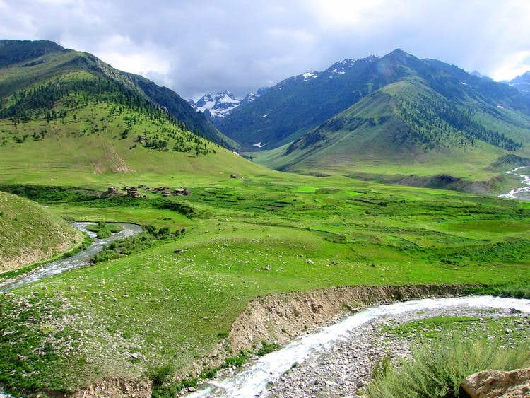 A village on Way to Deosai Plains, Northern Areas, Pakistan