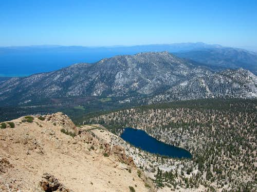 Star Lake, Monument Peak, and Lake Tahoe