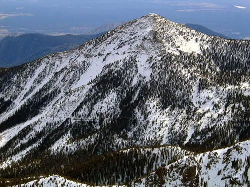 Fremont Peak from the summit...