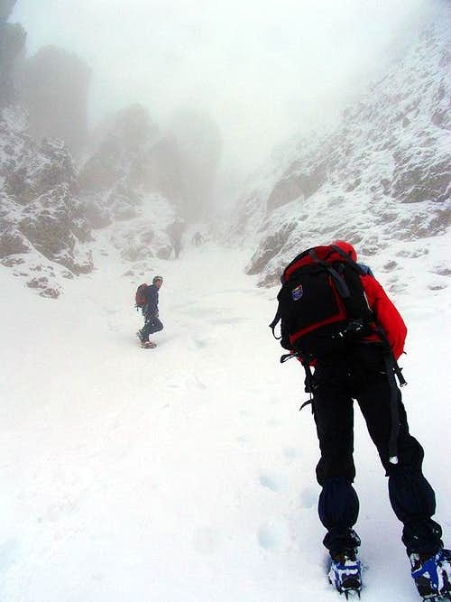 Approaching the couloir