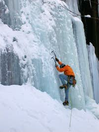 Early Season Ice Climbing at Frankenstein Cliff