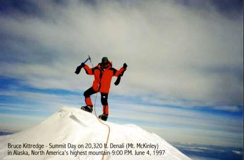 Denali summit during a...