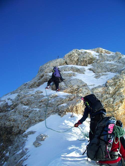Easy climbing