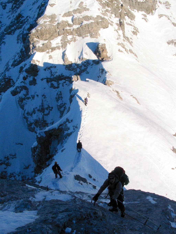 Descending the Vollkarspitze
