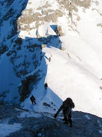 Descending the Vollkarspitze