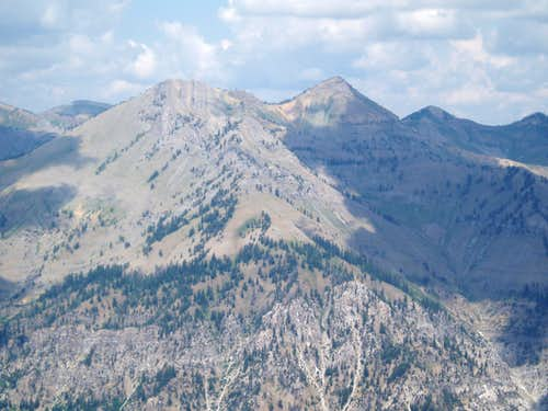 Elkhorn Peak and Mt Baird from the South