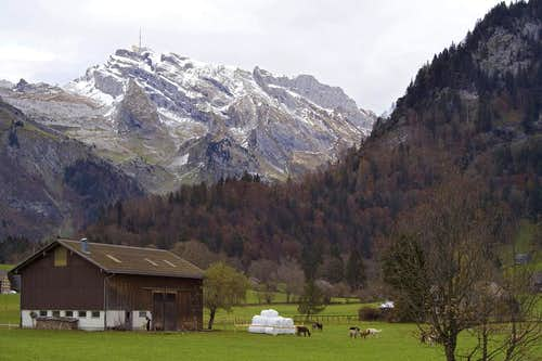 Säntis from village Laui