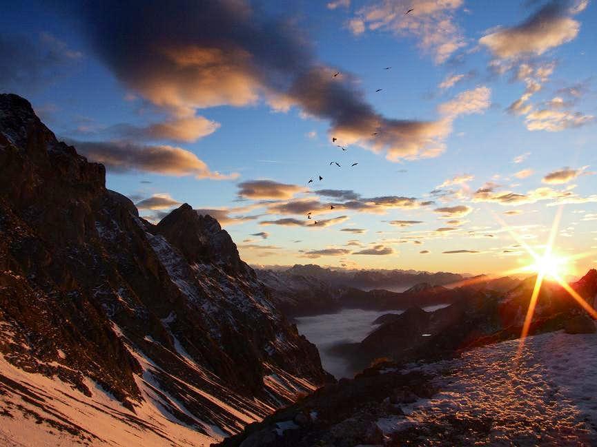 Rottsteinpass at sunset