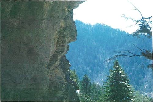 Photo of the alum cave on the...