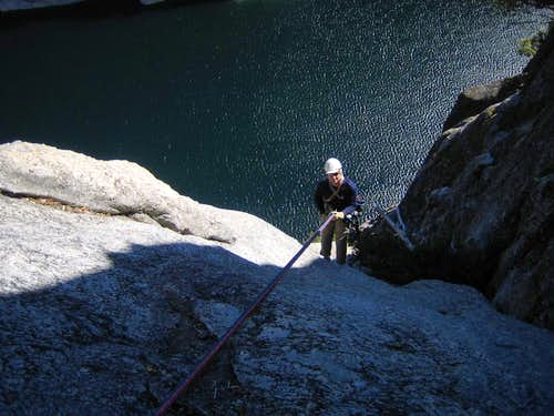 The 1000-foot rappel descent