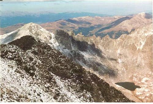 A view of the jagged peak...