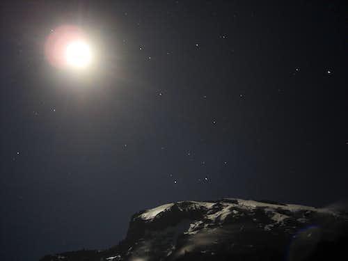 Moon, Kili at Night
