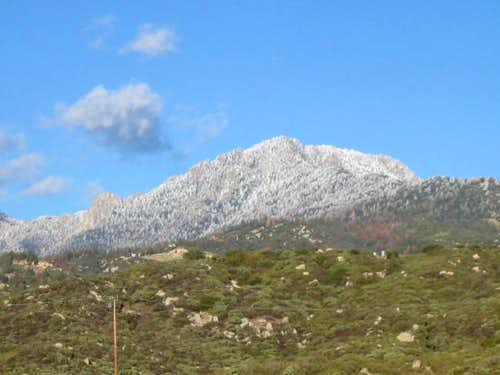 View of Tahquitz Peak and...