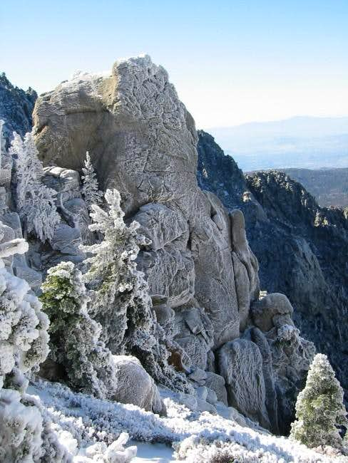 Beautiful snowflaked rock...