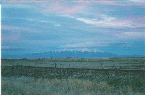Distant view of Blanca Peak...