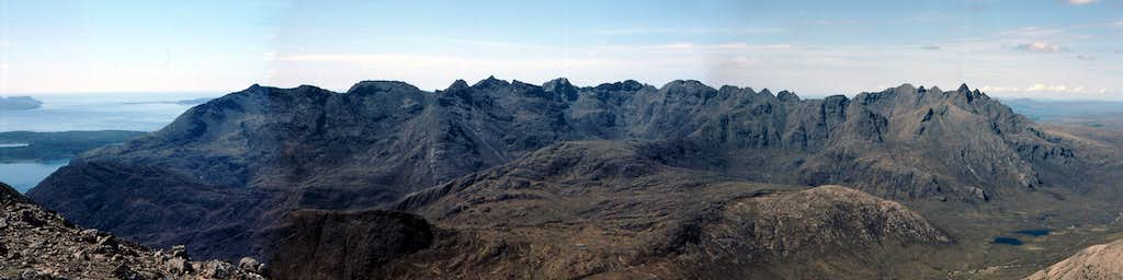 The Black Cuillins From Blaven