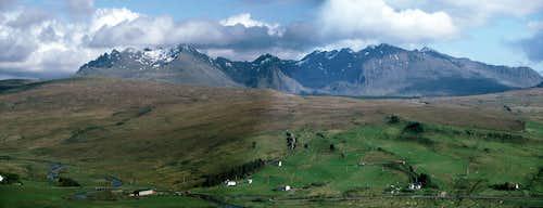 Northern Black Cuillin from above Glen Drynoch