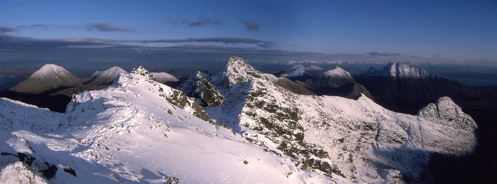 Panorama East of Bruach na Frithe