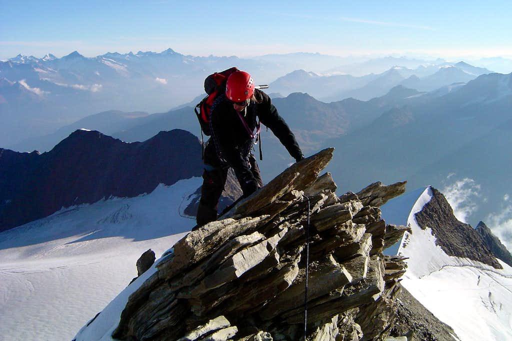 Climbing Nadelhorn