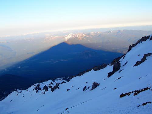 Shasta pyramid shadow over Casaval Ridge