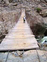 Rickety Bridge over the Colca