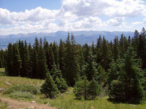 Mosquito Range from East Ridge of Elbert