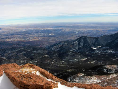 Colorado Springs from Pikes Peak