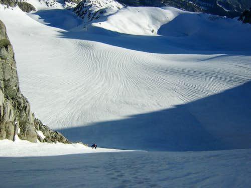 Sierras - Palisade Glacier seen while climbing the U-notch