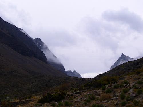 Cerro Casiri from the Quebrada Cerani