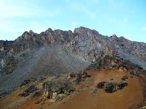 Rugged peaks west of Cerani