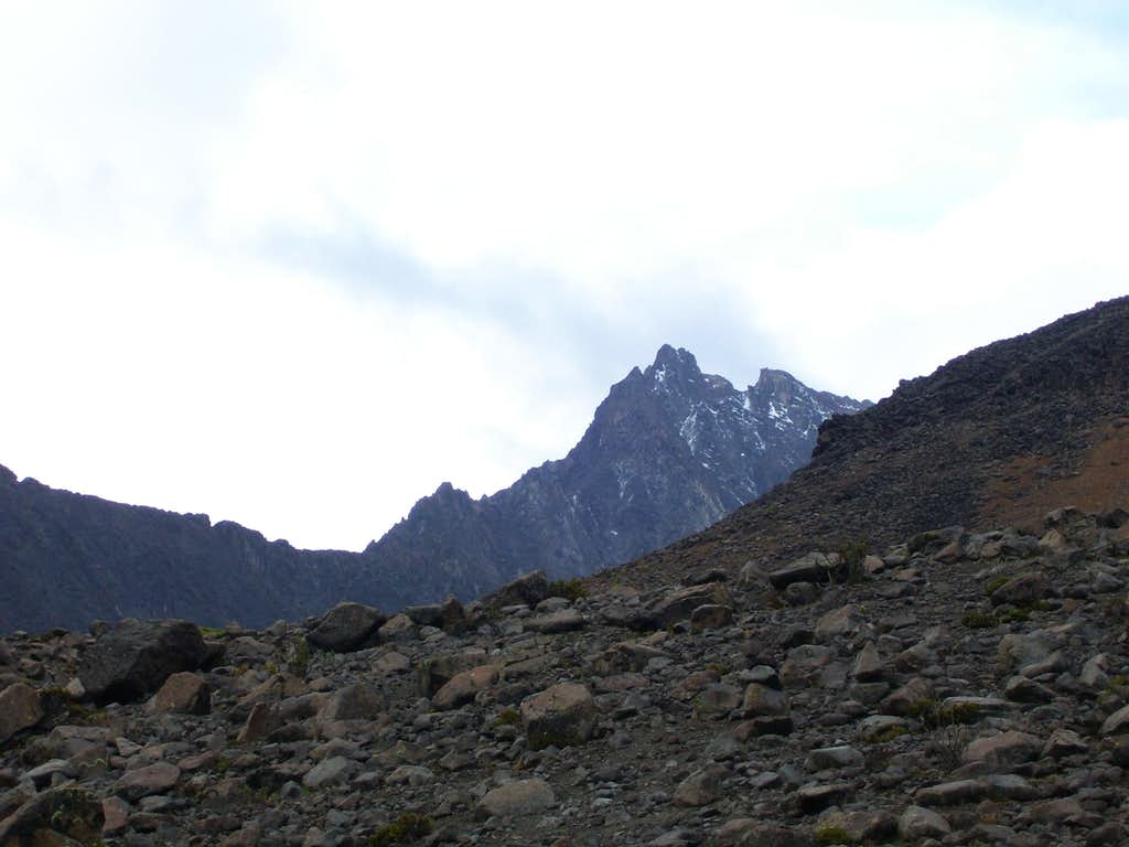 Peak north of Cerani