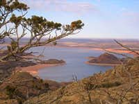 A view of Lake Altus from the...