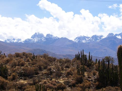 View from near the summit of Cerro Yanamauras