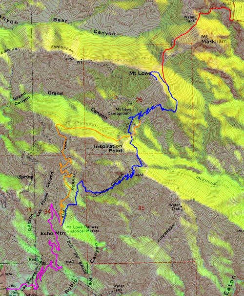Mount Lowe Routes